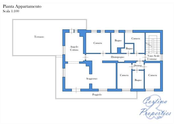 Foto 23 Appartamento terrazzato frazione Ronco di Cortina d'Ampezzo